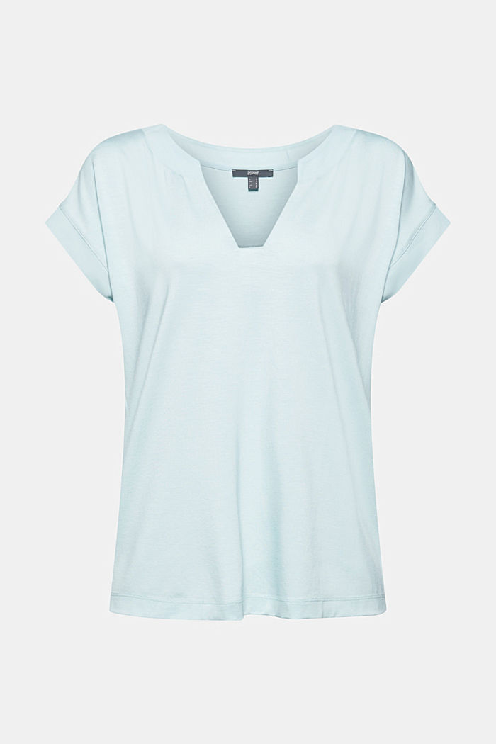Lyocell blend T-shirt with chiffon details