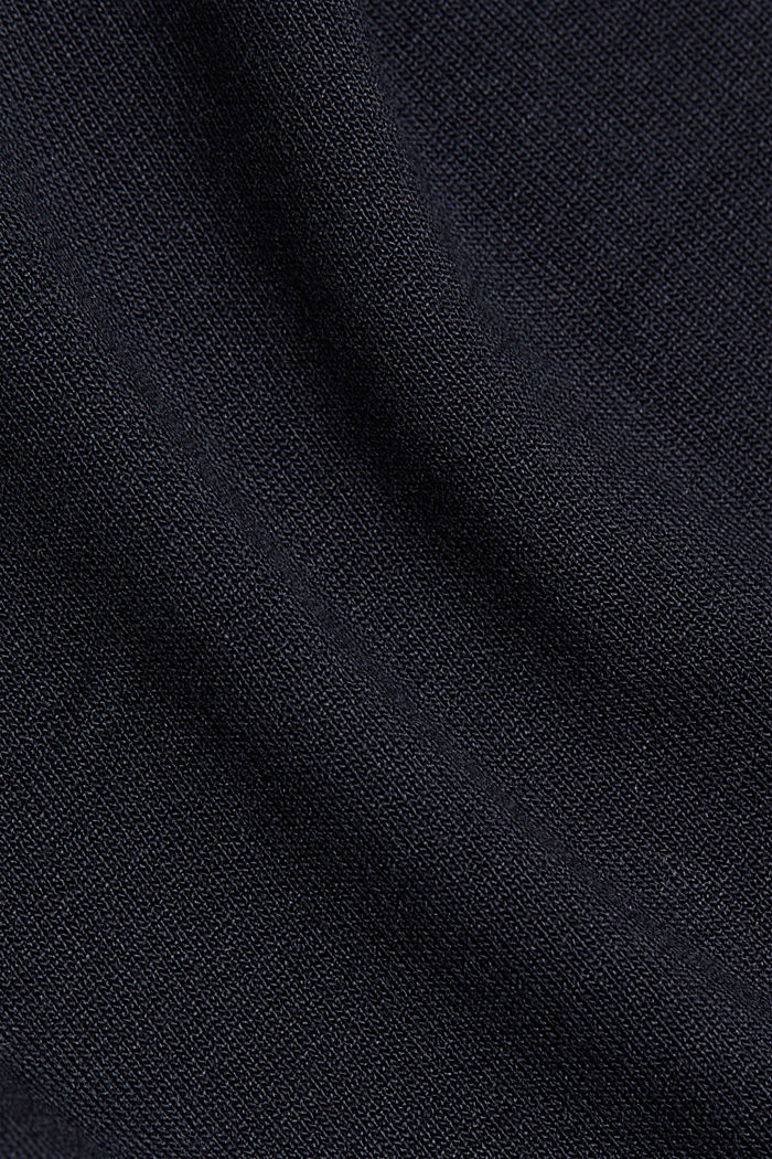Jersey T-shirt made of LENZING™ ECOVERO™, BLACK, detail image number 4