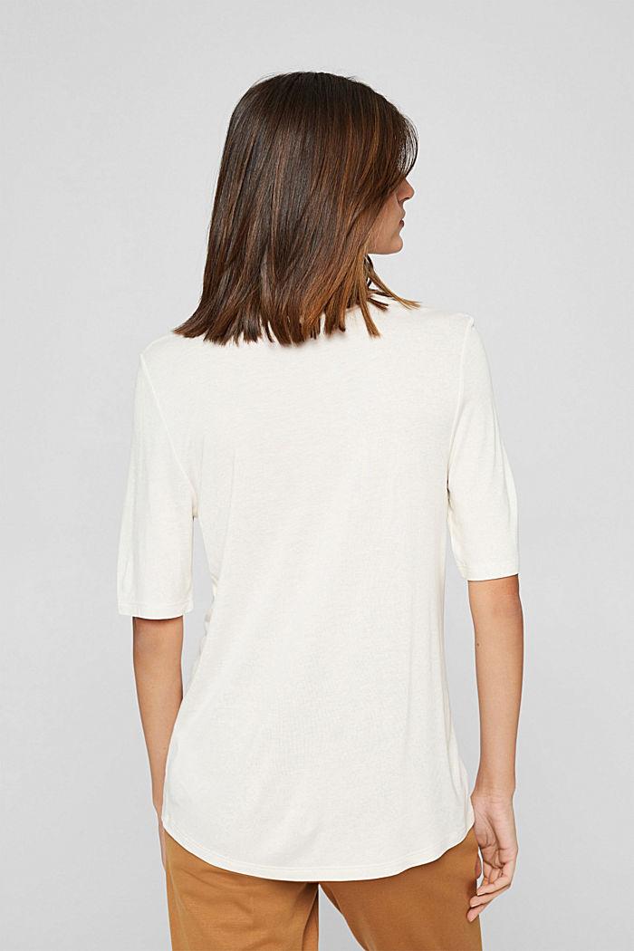 T-shirt en jersey, en fibres LENZING™ ECOVERO™, OFF WHITE, detail image number 3