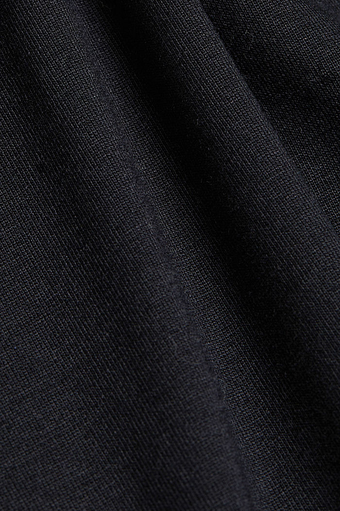 Jersey top with LENZING™ ECOVERO™, BLACK, detail image number 4
