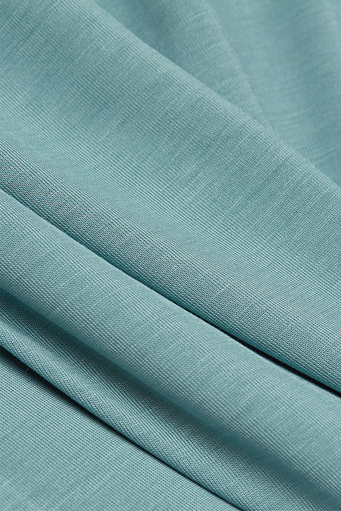 T-shirt made of 100% lyocell, DARK TURQUOISE, detail image number 4