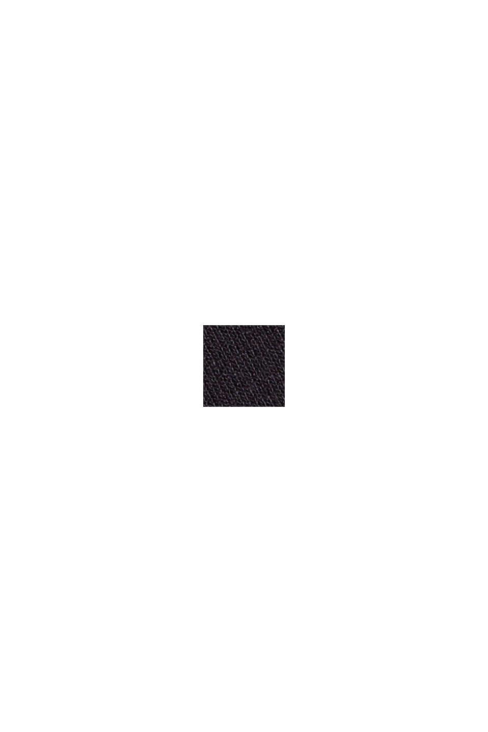 Bateau long sleeve top made of LENZING™ ECOVERO™, BLACK, swatch