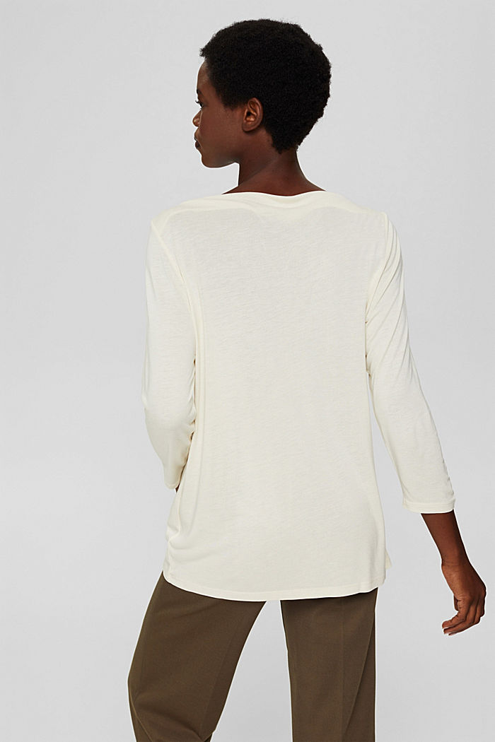 Bateau long sleeve top made of LENZING™ ECOVERO™, ICE, detail image number 3