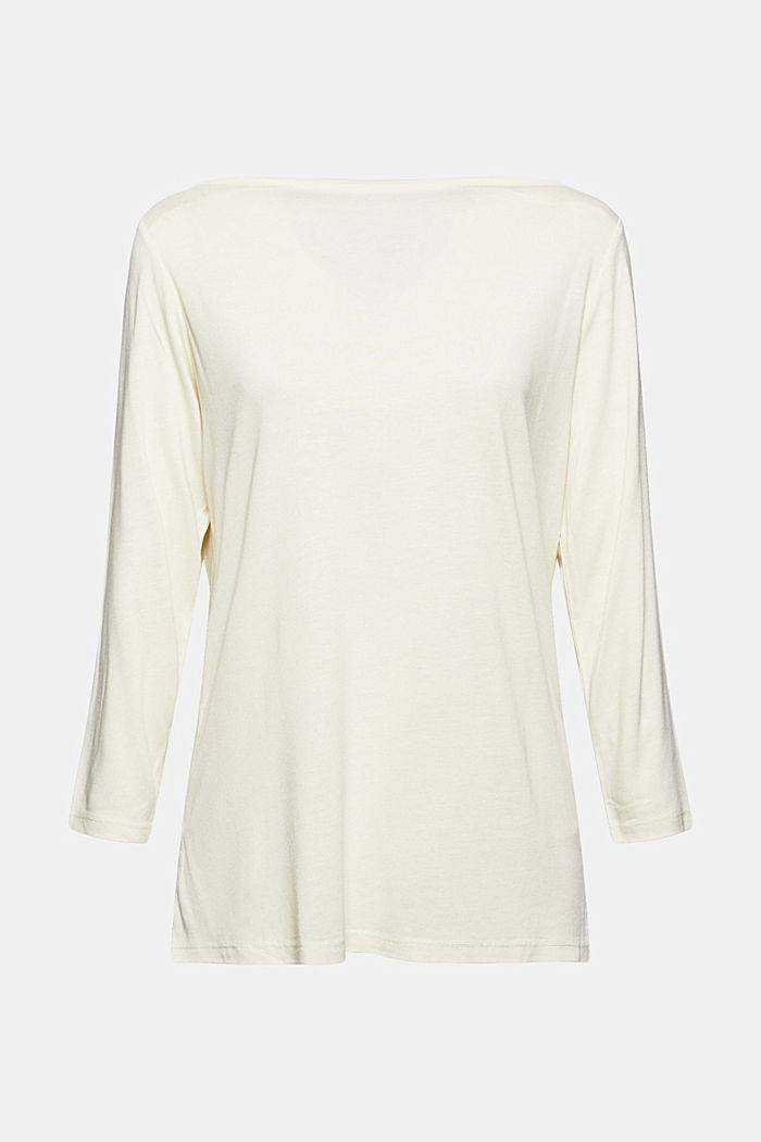 Bateau long sleeve top made of LENZING™ ECOVERO™, ICE, detail image number 6