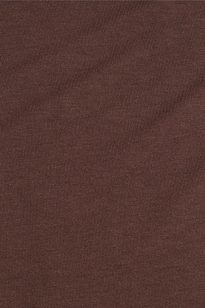 Camiseta de manga larga con cuello barco de LENZING™ ECOVERO™, DARK BROWN, detail image number 4