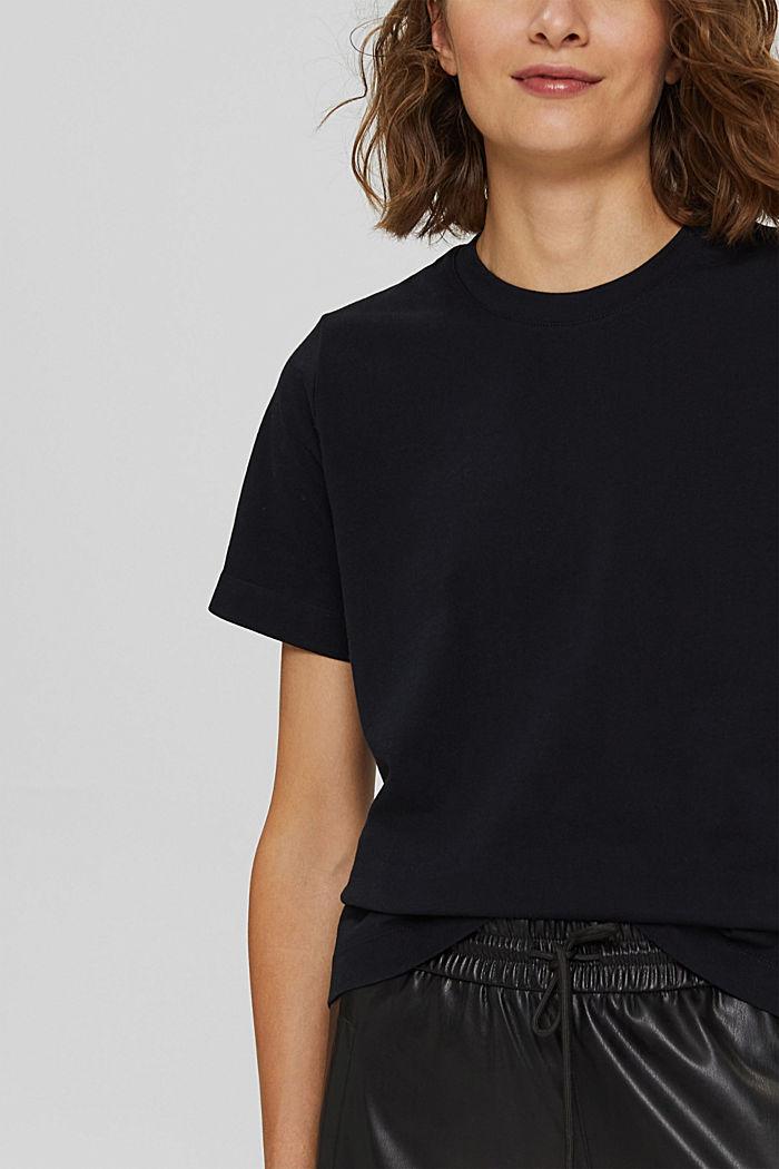 Basic T-Shirt aus 100% Bio-Baumwolle, BLACK, detail image number 2