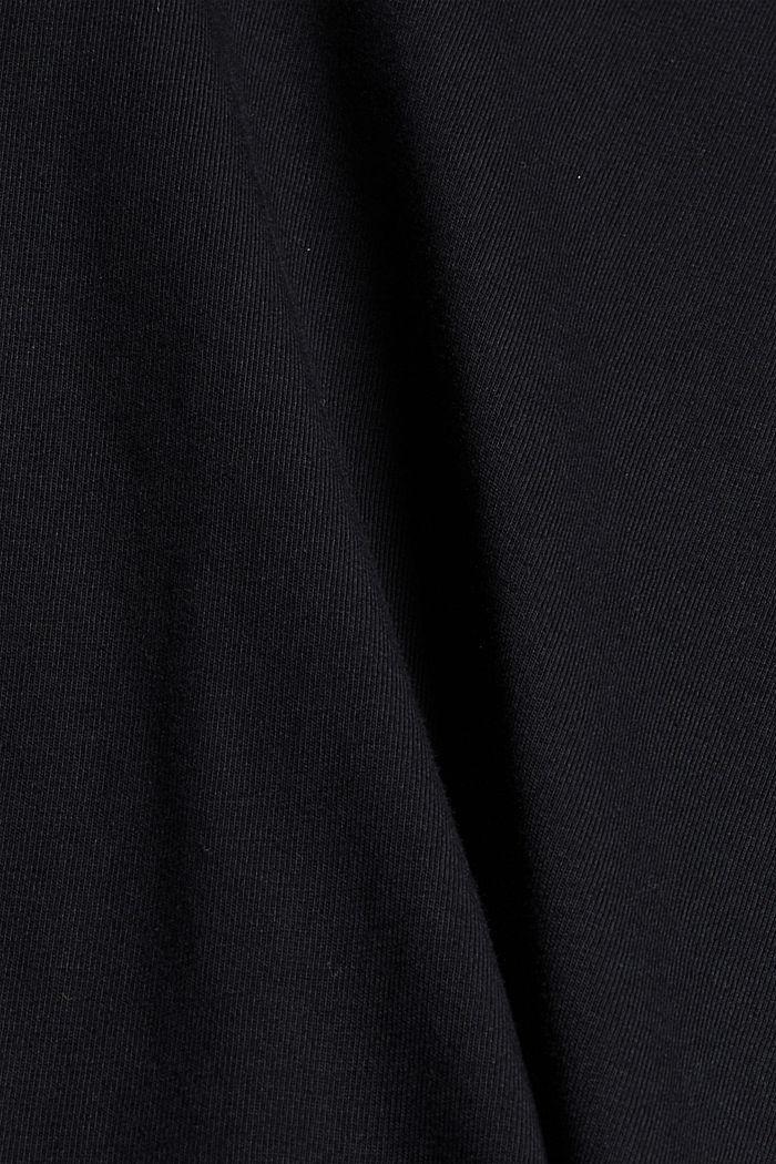 Basic T-Shirt aus 100% Bio-Baumwolle, BLACK, detail image number 4