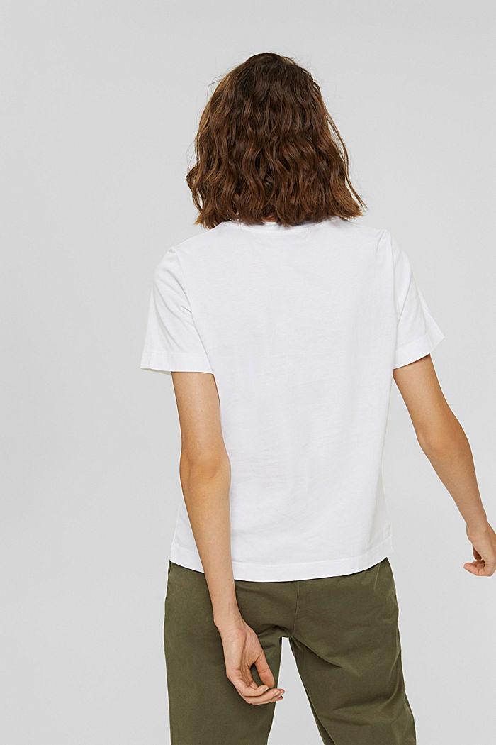 Basic T-shirt made of 100% organic cotton, WHITE, detail image number 3