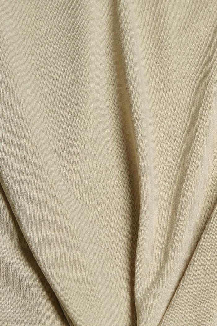 Top de jersey en LENZING™ ECOVERO™ con encaje, DUSTY GREEN, detail image number 4