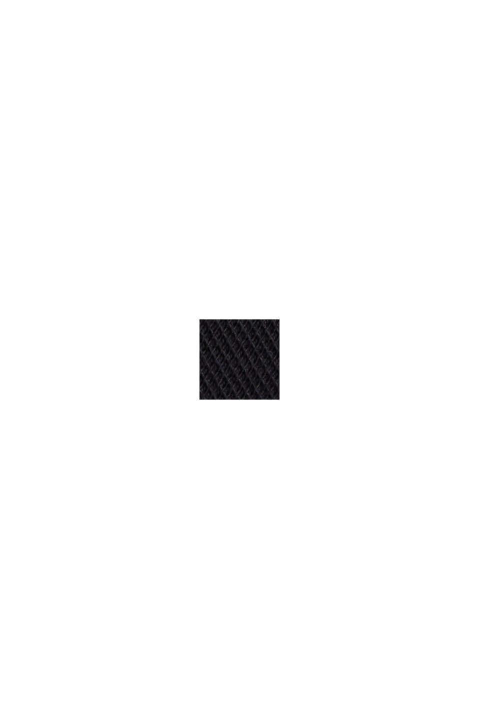 Piqué-Longsleeve, merzerisierte Bio-Baumwolle, BLACK, swatch
