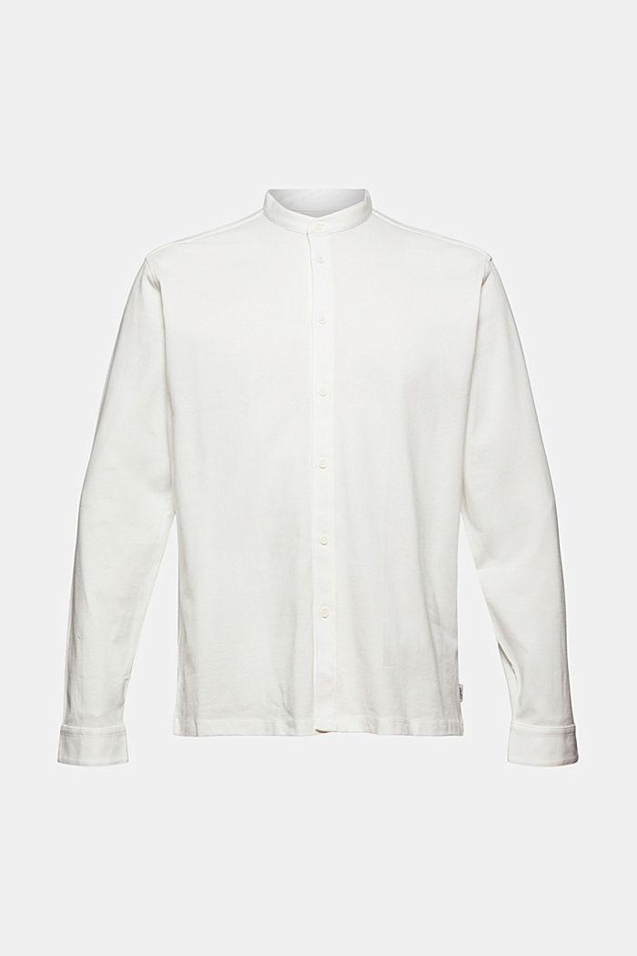 Piqué-Longsleeve, merzerisierte Bio-Baumwolle, OFF WHITE, detail image number 7