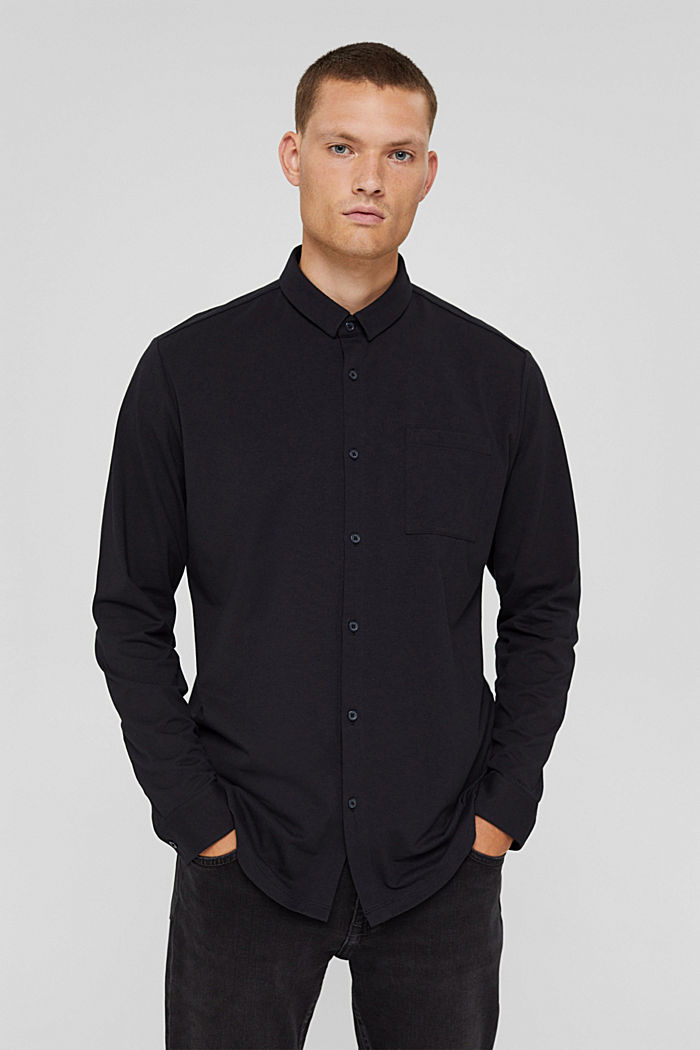 Camicia in jersey con COOLMAX®, BLACK, detail image number 0