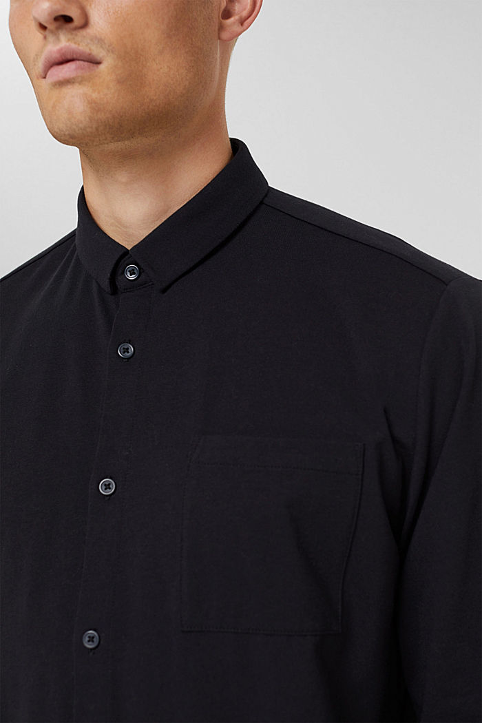 Camicia in jersey con COOLMAX®, BLACK, detail image number 1