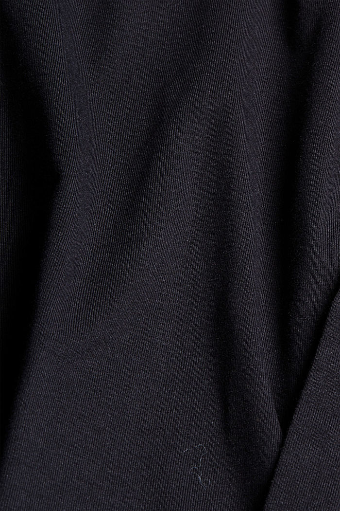 Camicia in jersey con COOLMAX®, BLACK, detail image number 4