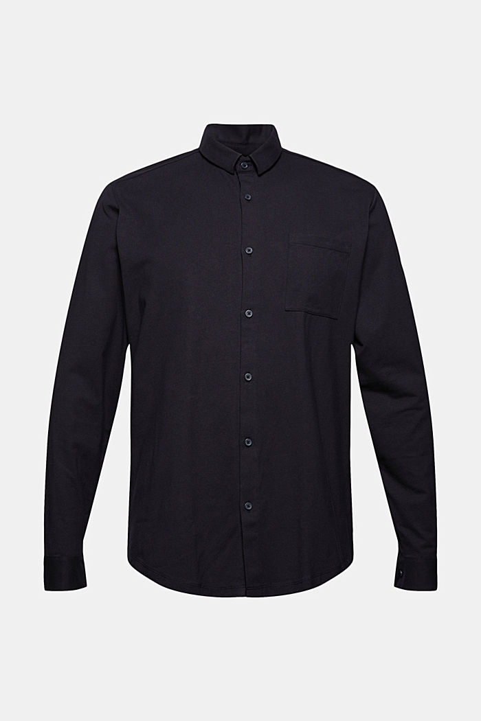 Camicia in jersey con COOLMAX®, BLACK, detail image number 5
