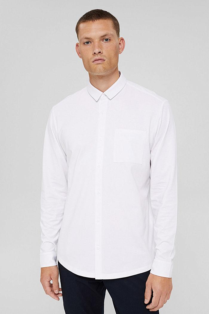Jersey overhemd met COOLMAX®, WHITE, detail image number 0
