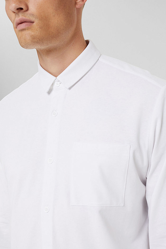 Jersey overhemd met COOLMAX®, WHITE, detail image number 1