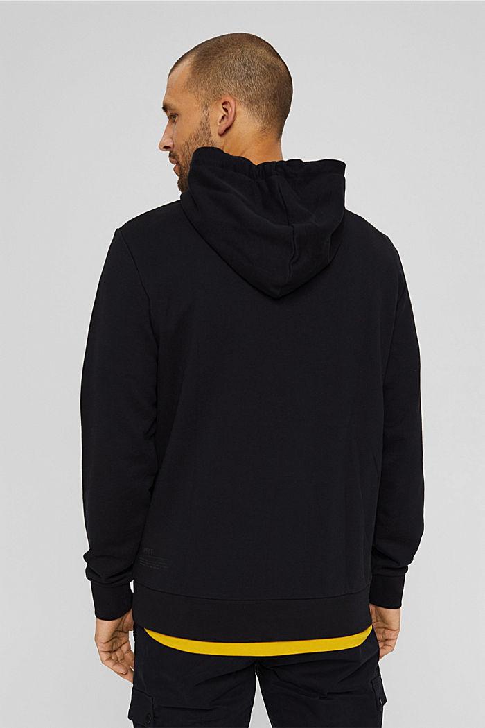 Sweat à capuche en coton/TENCEL™, BLACK, detail image number 3
