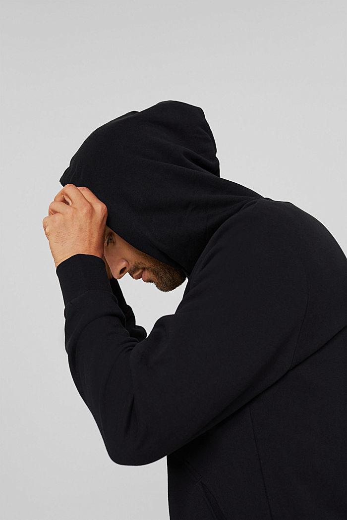 Sweat à capuche en coton/TENCEL™, BLACK, detail image number 4