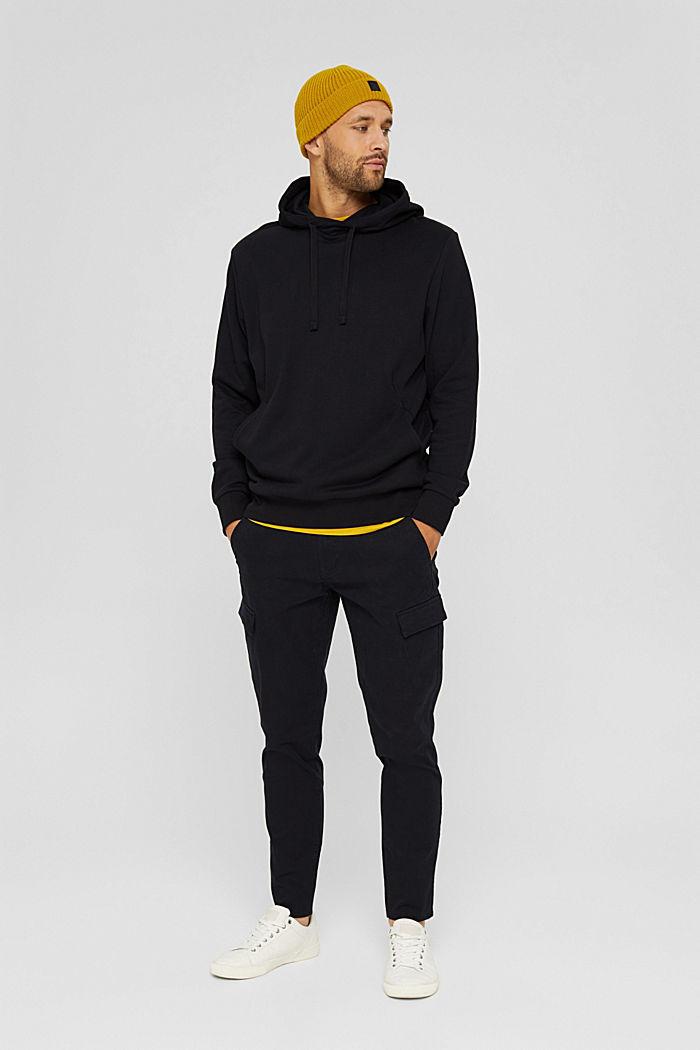 Sweat à capuche en coton/TENCEL™, BLACK, detail image number 1