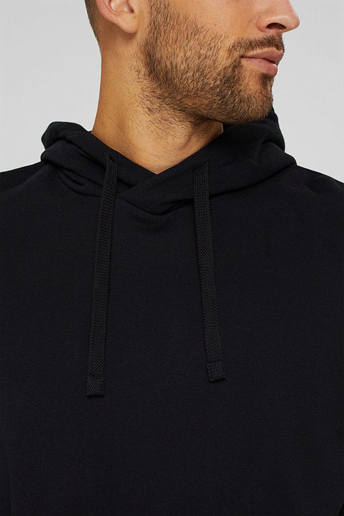 Sweat à capuche en coton/TENCEL™, BLACK, detail image number 2