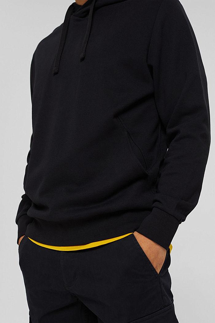 Sweat à capuche en coton/TENCEL™, BLACK, detail image number 7