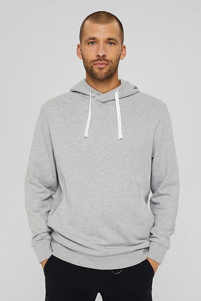 Sweatshirt hoodie made of cotton/TENCEL™, LIGHT GREY, detail image number 0