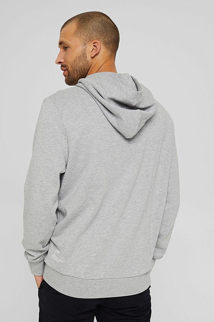 Sweatshirt hoodie made of cotton/TENCEL™, LIGHT GREY, detail image number 3