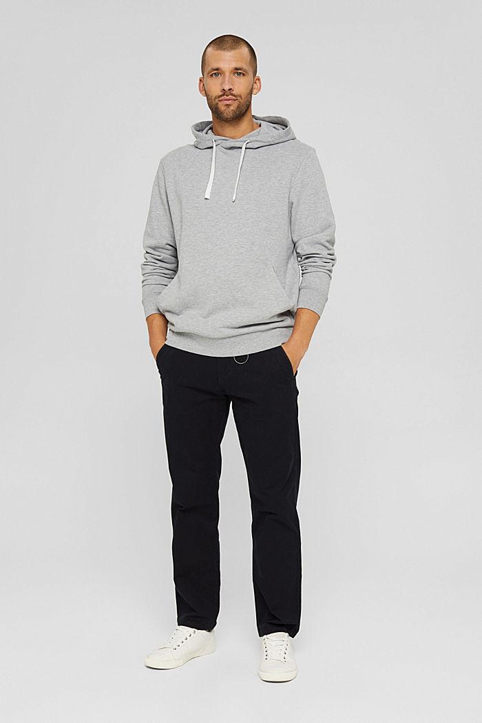 Sweatshirt hoodie made of cotton/TENCEL™, LIGHT GREY, detail image number 1