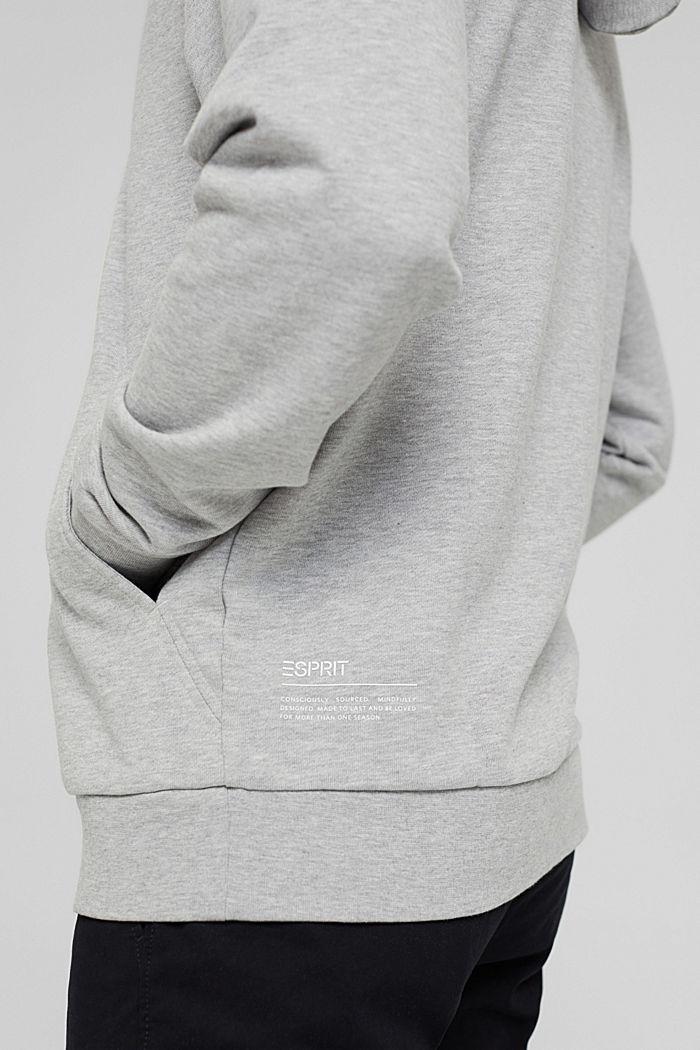 Sweatshirt hoodie made of cotton/TENCEL™, LIGHT GREY, detail image number 2