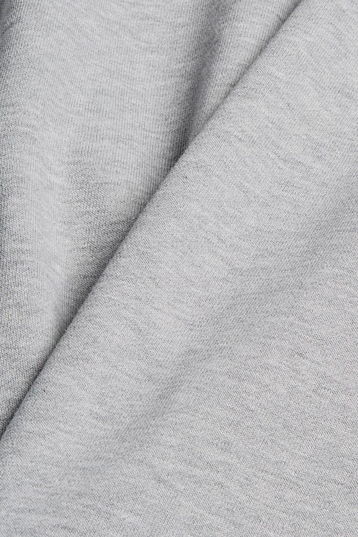 Sweatshirt hoodie made of cotton/TENCEL™, LIGHT GREY, detail image number 5