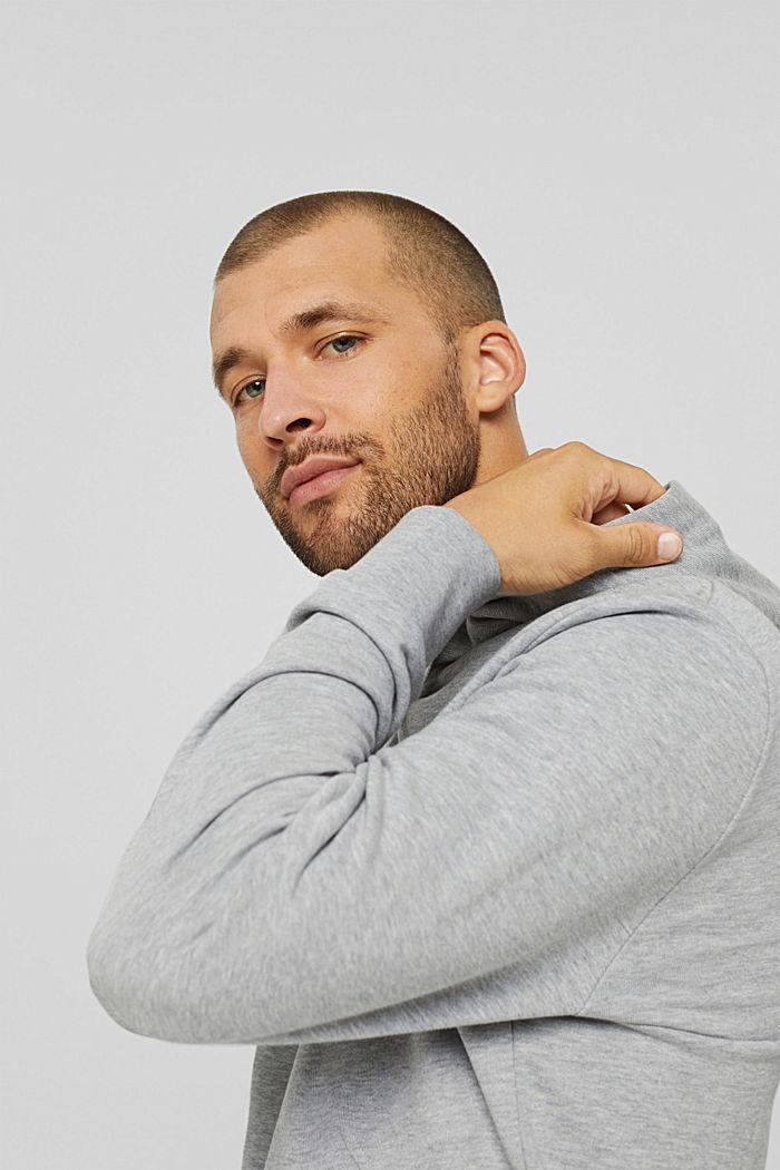 Sweatshirt hoodie made of cotton/TENCEL™, LIGHT GREY, detail image number 6