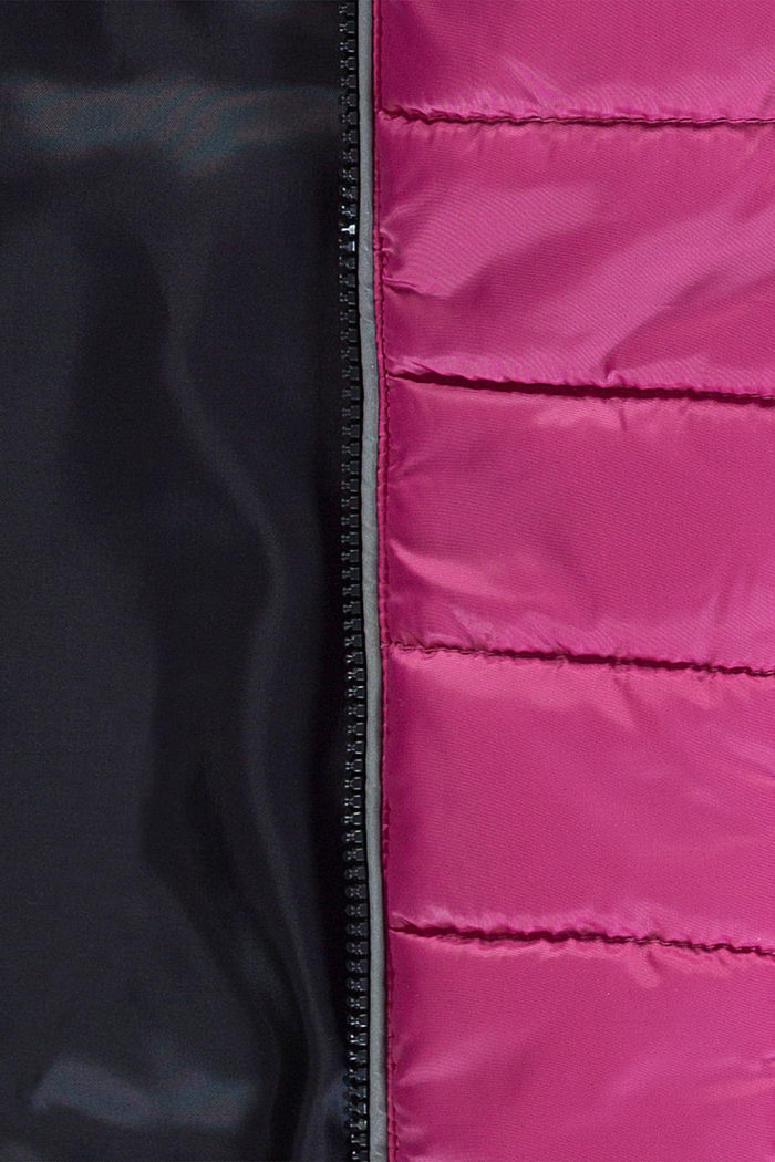 Quilted jacket with a hood, PINK, detail image number 2
