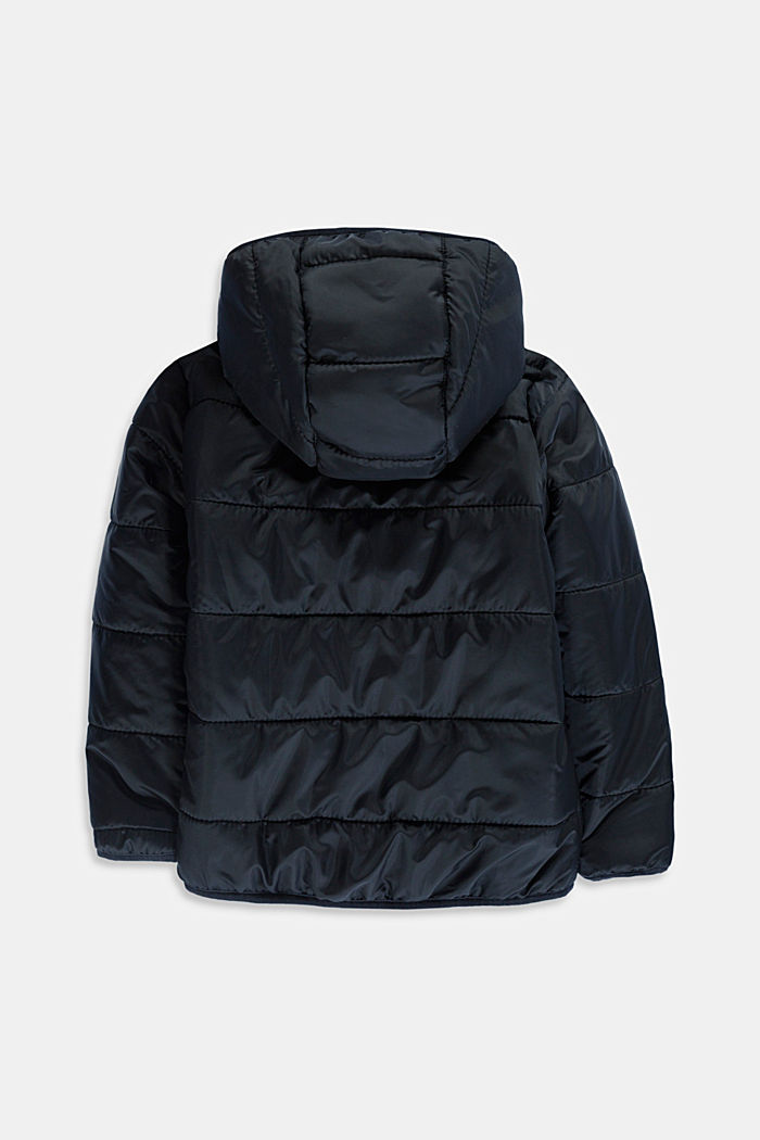 Quilted jacket with a hood