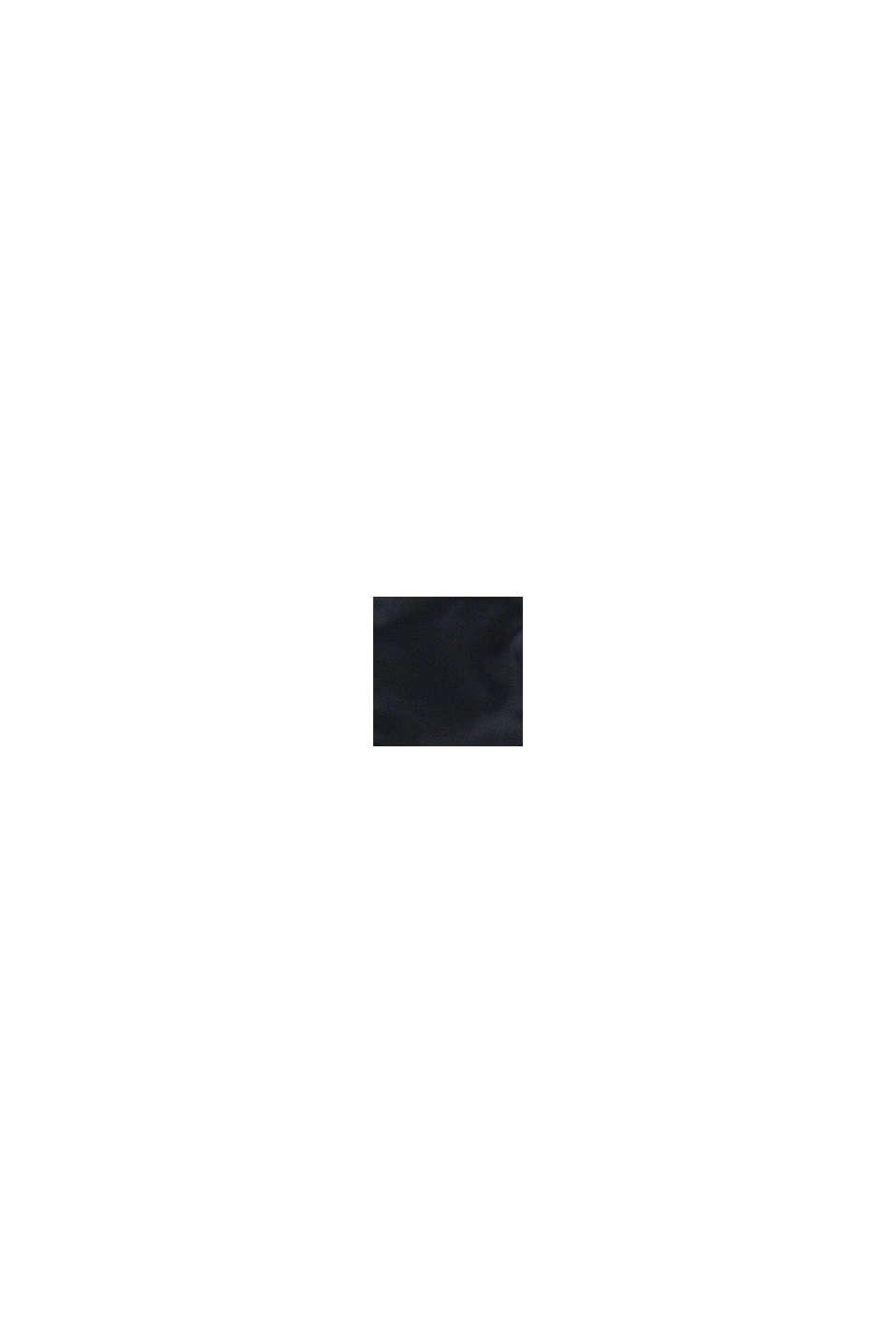 Quiltad jacka med huva, BLACK, swatch