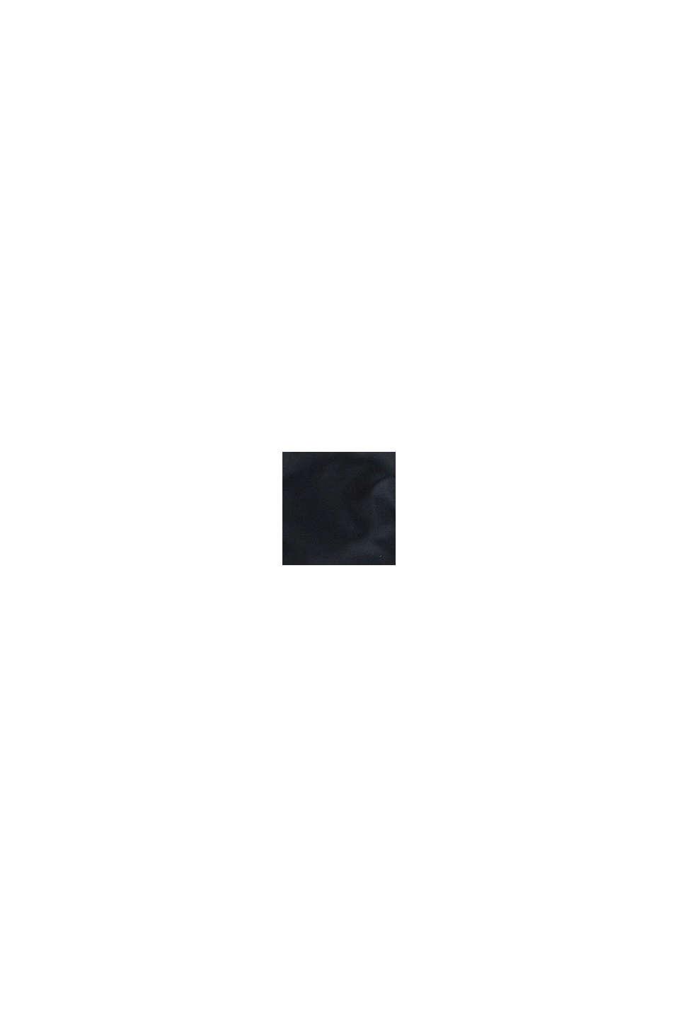 Quiltad, vadderad jacka med huva, BLACK, swatch