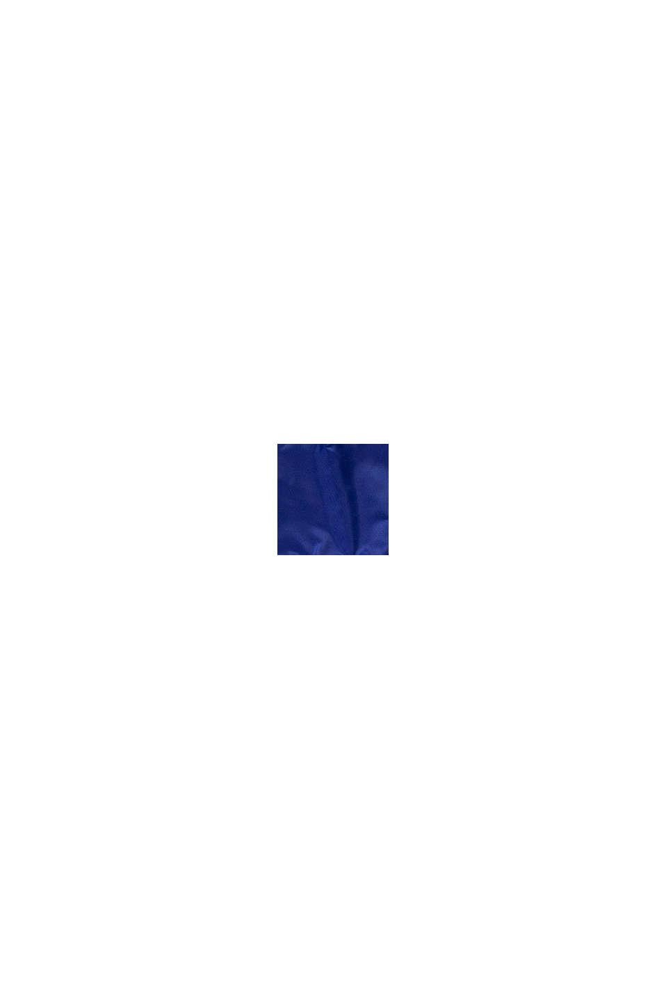 Quiltad, vadderad jacka med huva, BRIGHT BLUE, swatch