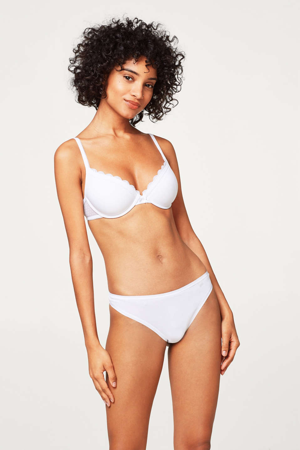 Esprit - 2 x blended cotton thongs