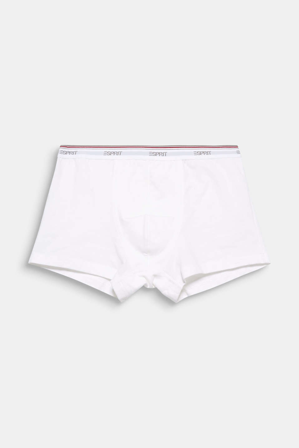 These sporty jersey shorts with legs cut in one piece and an attached  elasticated logo waistband are super comfortable.