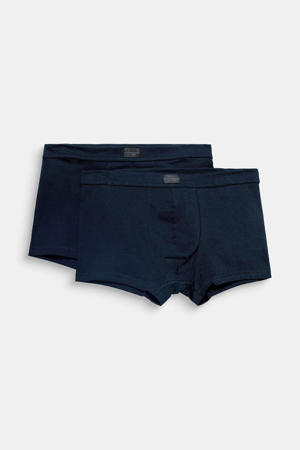 Sporty look, comfortable fabric: These shorts come in a practical double pack and are made of stretch cotton.