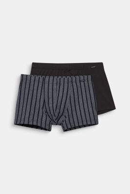 2 pack of stretch cotton hipster shorts, BLACK, detail