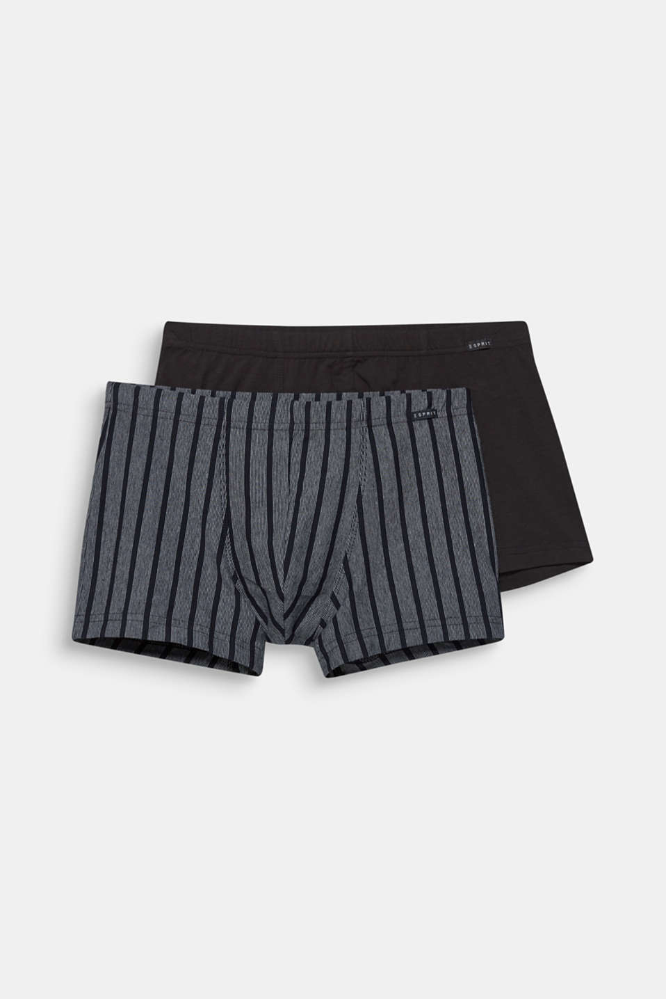 2 pack of stretch cotton hipster shorts, BLACK, detail image number 3