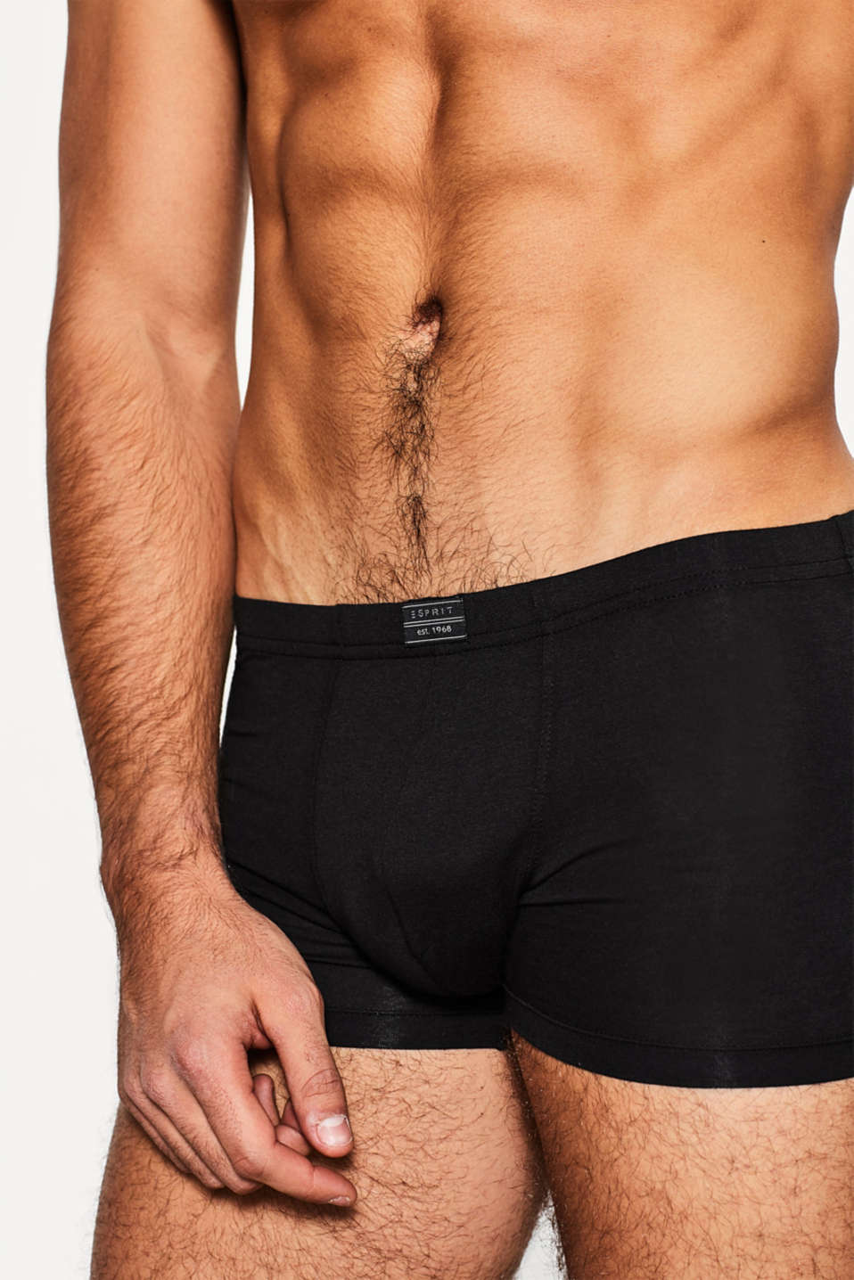 In a triple pack: Jersey shorts with a logo, BLACK, detail image number 2