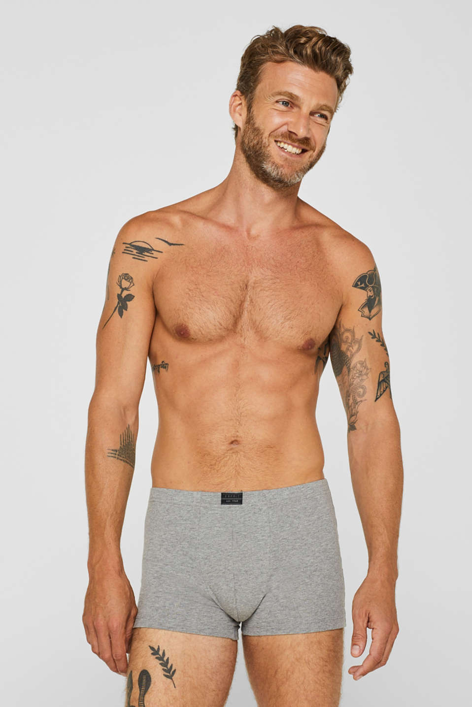 Esprit - In a triple pack: Jersey shorts with a logo