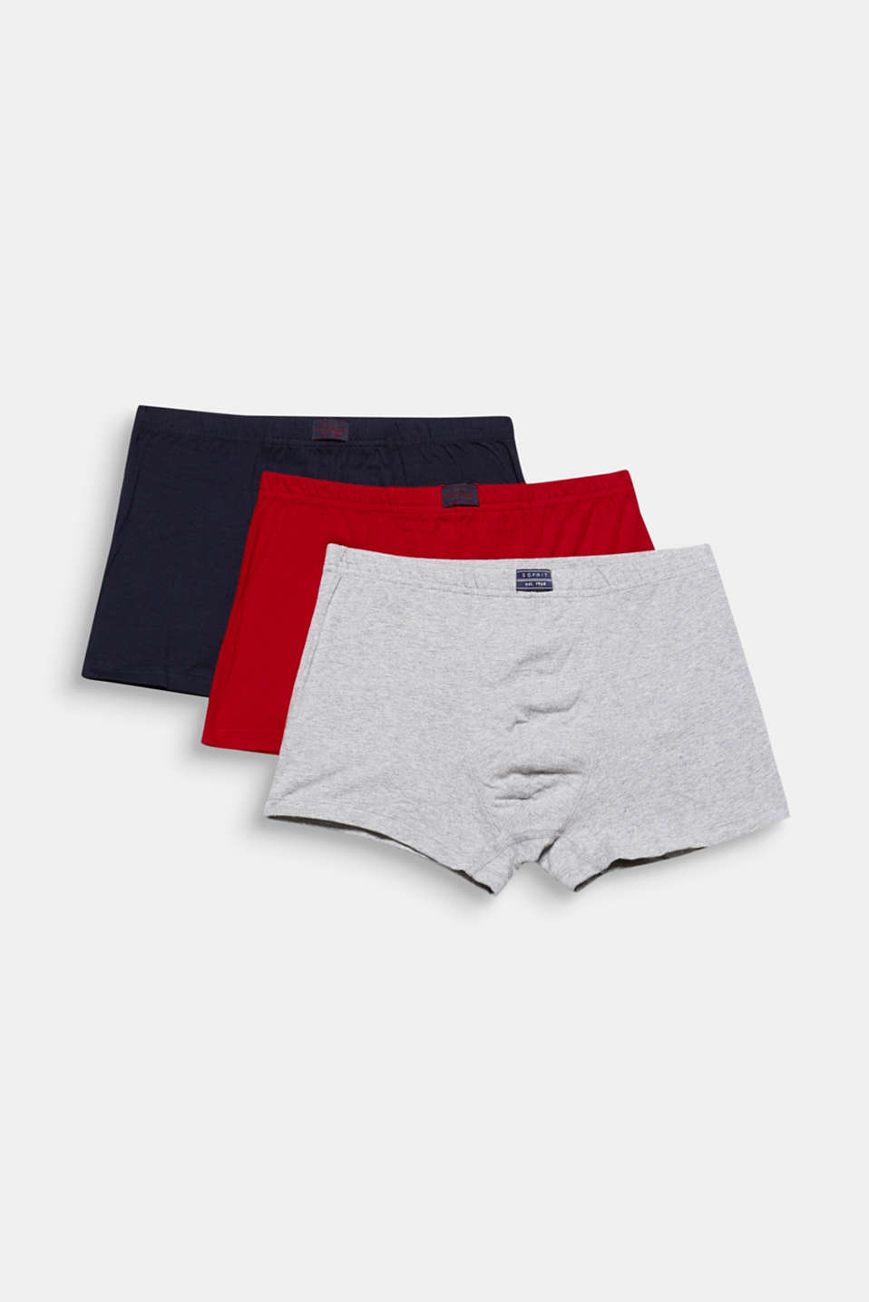 Esprit - Im 3er-Pack: Jersey-Shorts mit Label