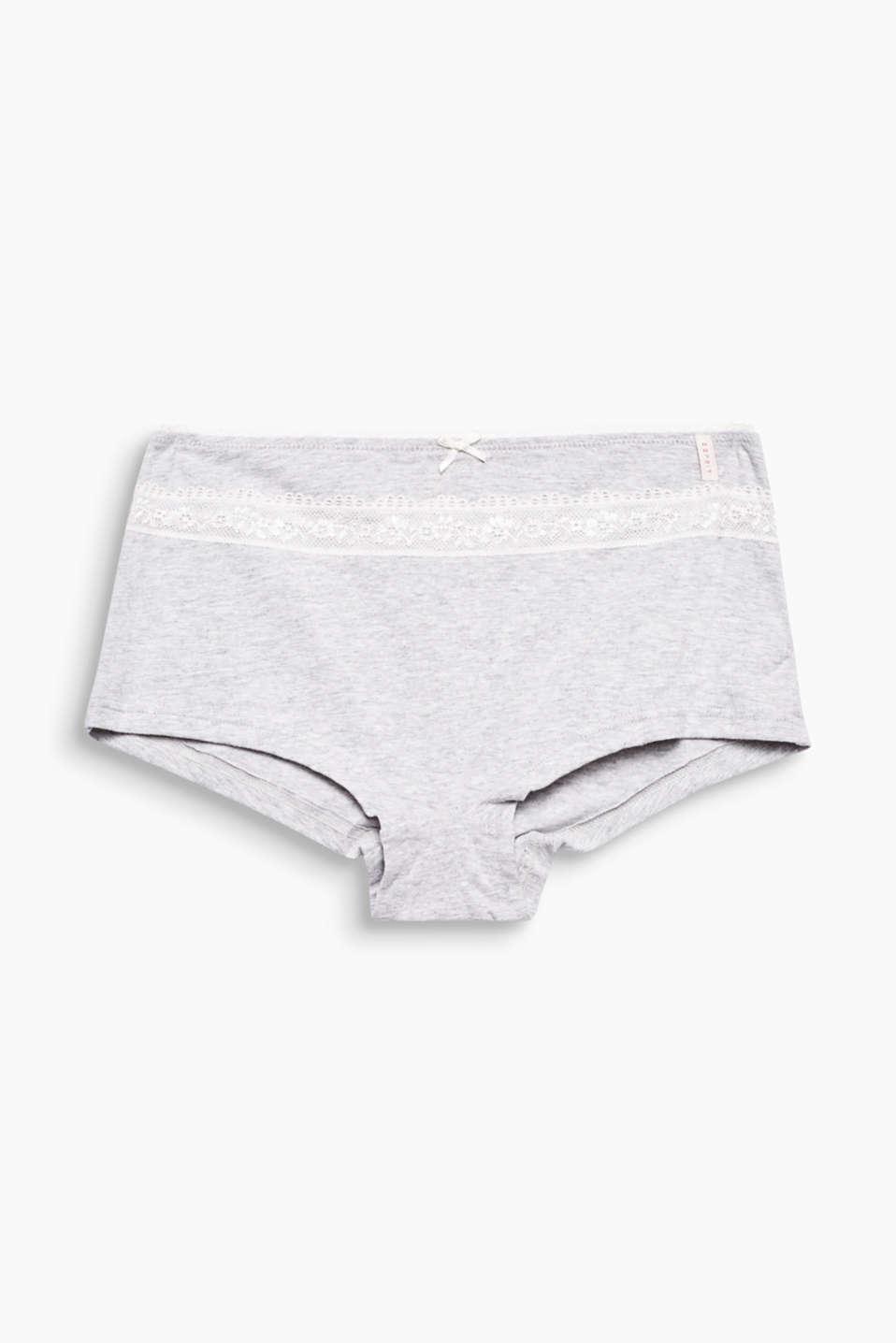 organic cotton shorts, GREYMELANGE, detail image number 3