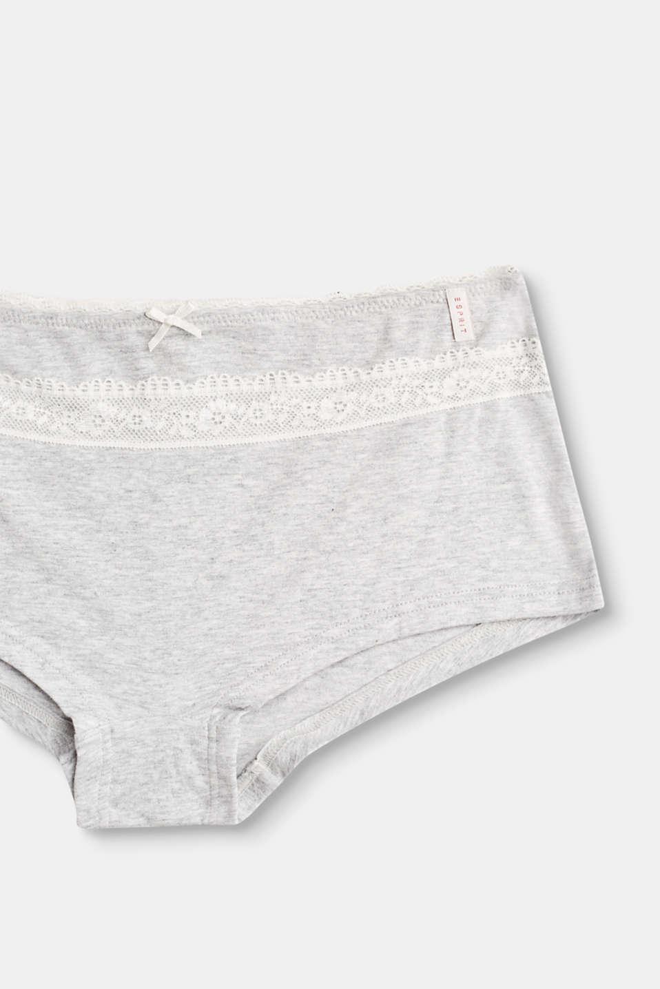 organic cotton shorts, GREYMELANGE, detail image number 2