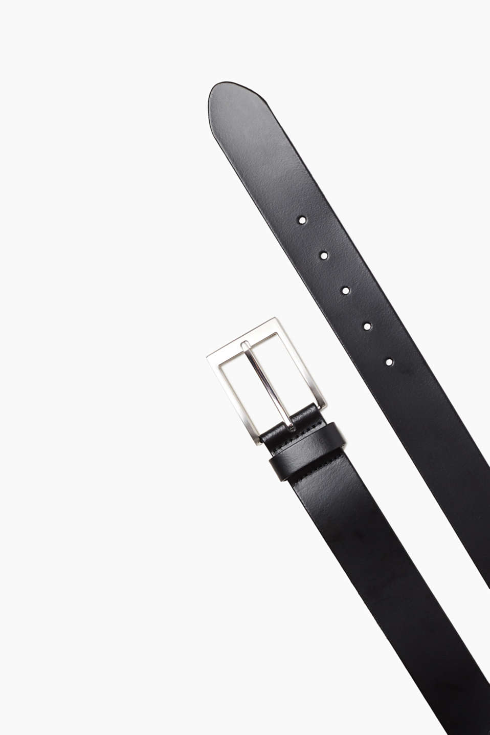 Esprit - Basic belt in genuine leather