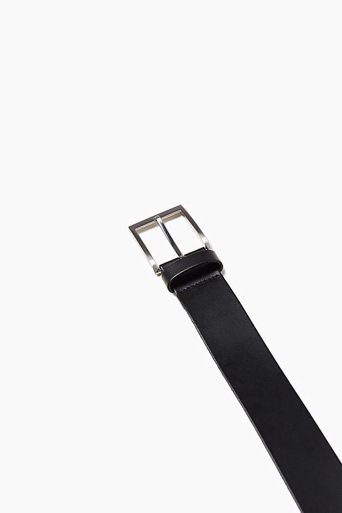 Basic belt in genuine leather