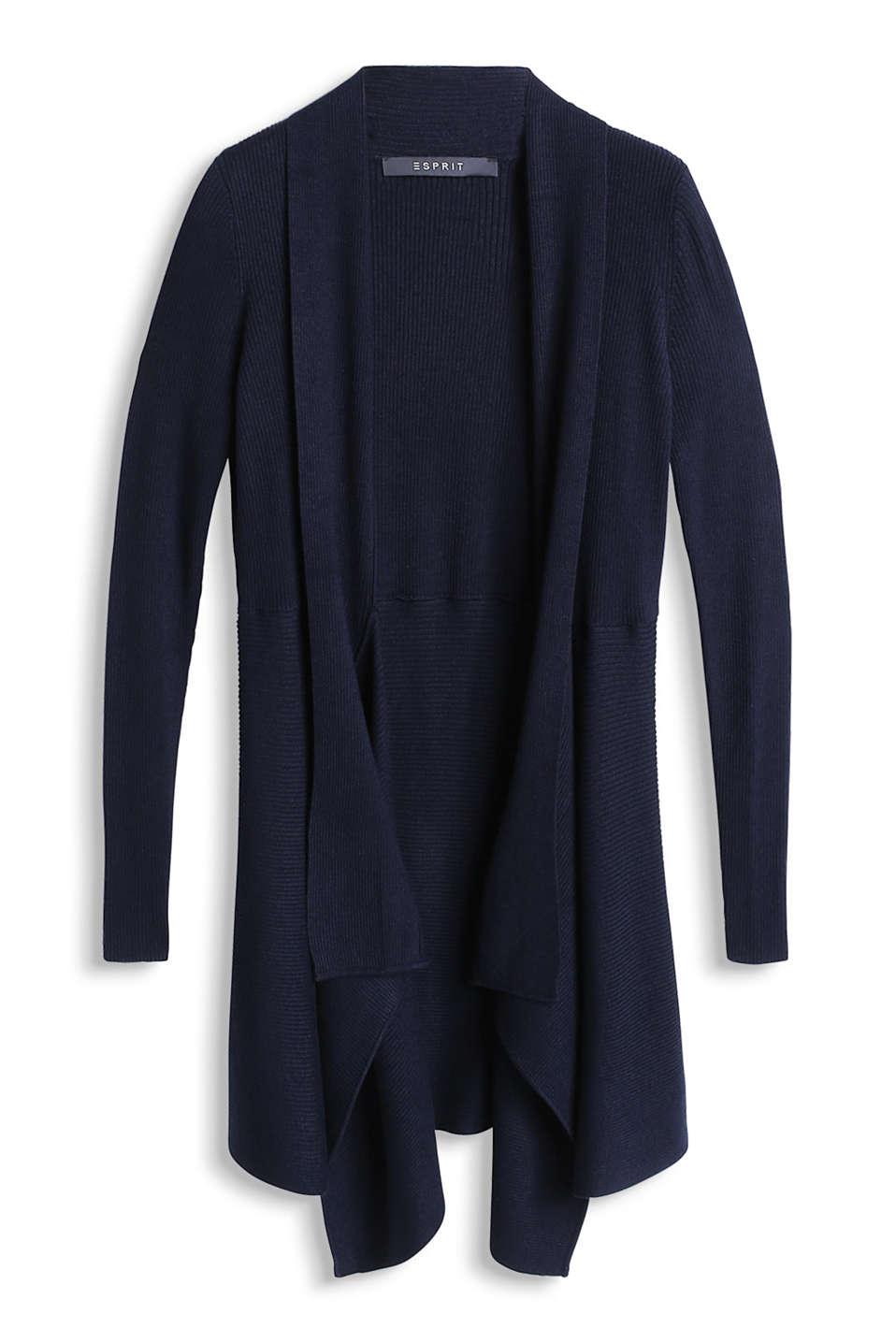 Esprit LONG CARDI - Gilet - dark grey Livraison Gratuite À Acheter Se Sites À Bas Prix Sortie D'usine Pas Cher En Ligne reaZ0